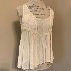 Lace and pearl top
